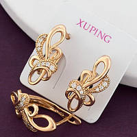 """Серьги Xuping Jewelry """"Эйрин"""" медицинское золото позолота 18К английский замок. А/В 4334"""