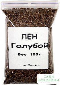 Лен декоративный голубой ТМ 'Весна' 100г
