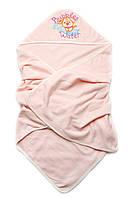 Детское полотенце махровое для купания (персик) (К03-00582-3)