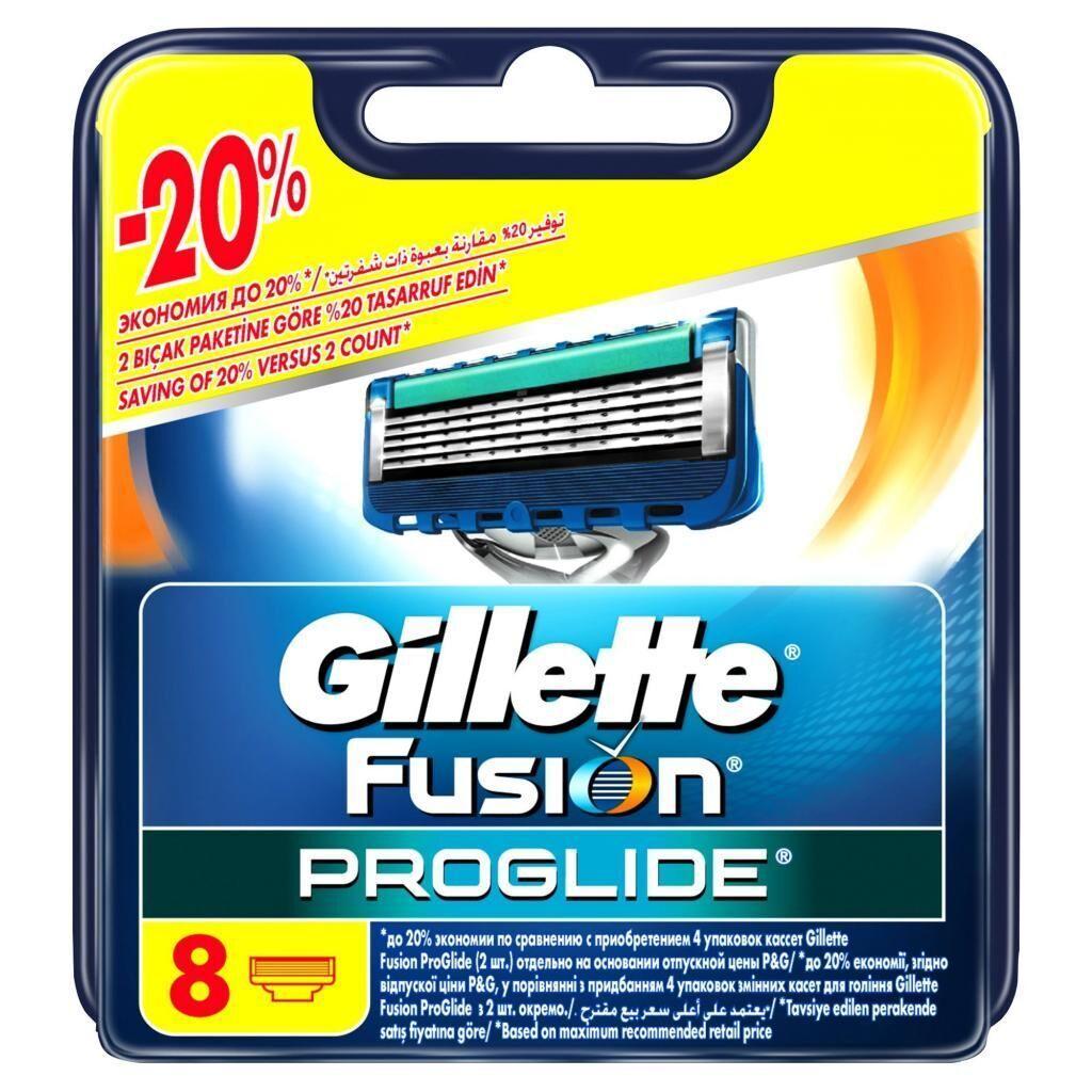 Сменные кассеты Gillette Fusion ProGlide 8 шт (7702018085545), фото 1