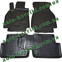 Резиновые коврики в салон Renault Megane ll 2002-2008 (Avto-Gumm) Автогум