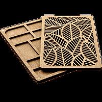 Органайзер для бисера с деревянной крышкой