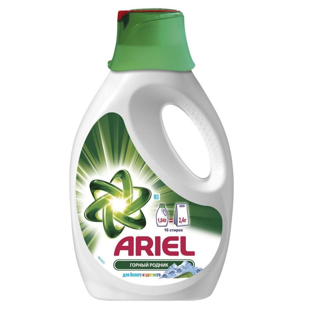Жидкий порошок Ariel Горный Родник 1,04 л = 2,4 кг (4015400892618)