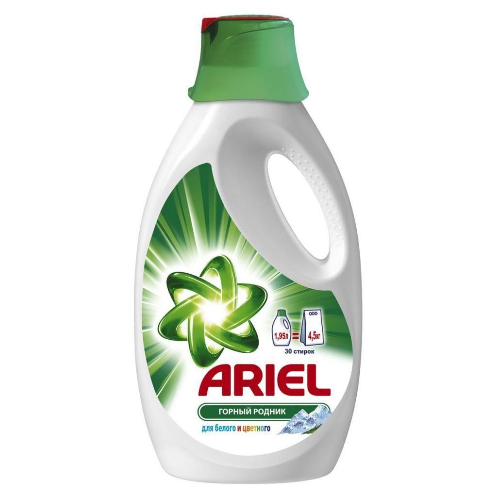 Жидкий порошок Ariel Горный Родник 1,95 л = 4.5 кг (4015400892670)