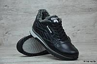 Мужские кожаные зимние кроссовки Reebok  (Реплика) (Код: R-16 чк/бн  ) ►Размеры [40,41,42,43,44,45], фото 1