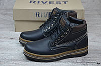 Мужские кожаные ботинки Rivest (Реплика) (Код: Rф  ) ►Размеры [40,41,42,43,44,45], фото 1