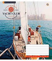 Зошит учнівська 12 аркушів, лінія Розкішні яхти, малюнки в асортименті, фото 1