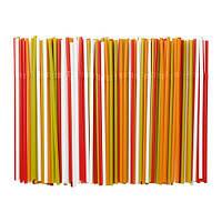 """IKEA"" СОДА Трубочка, бел/зелен, красный/оранжевый 200 шт"