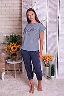 Комплект женский футболка и капри  Nicoletta 82455, фото 1