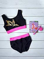 Яркий детский спорт костюм шорты с топом