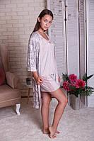 Комплект женский  халат, майка и шортики  Niсolettа 91128