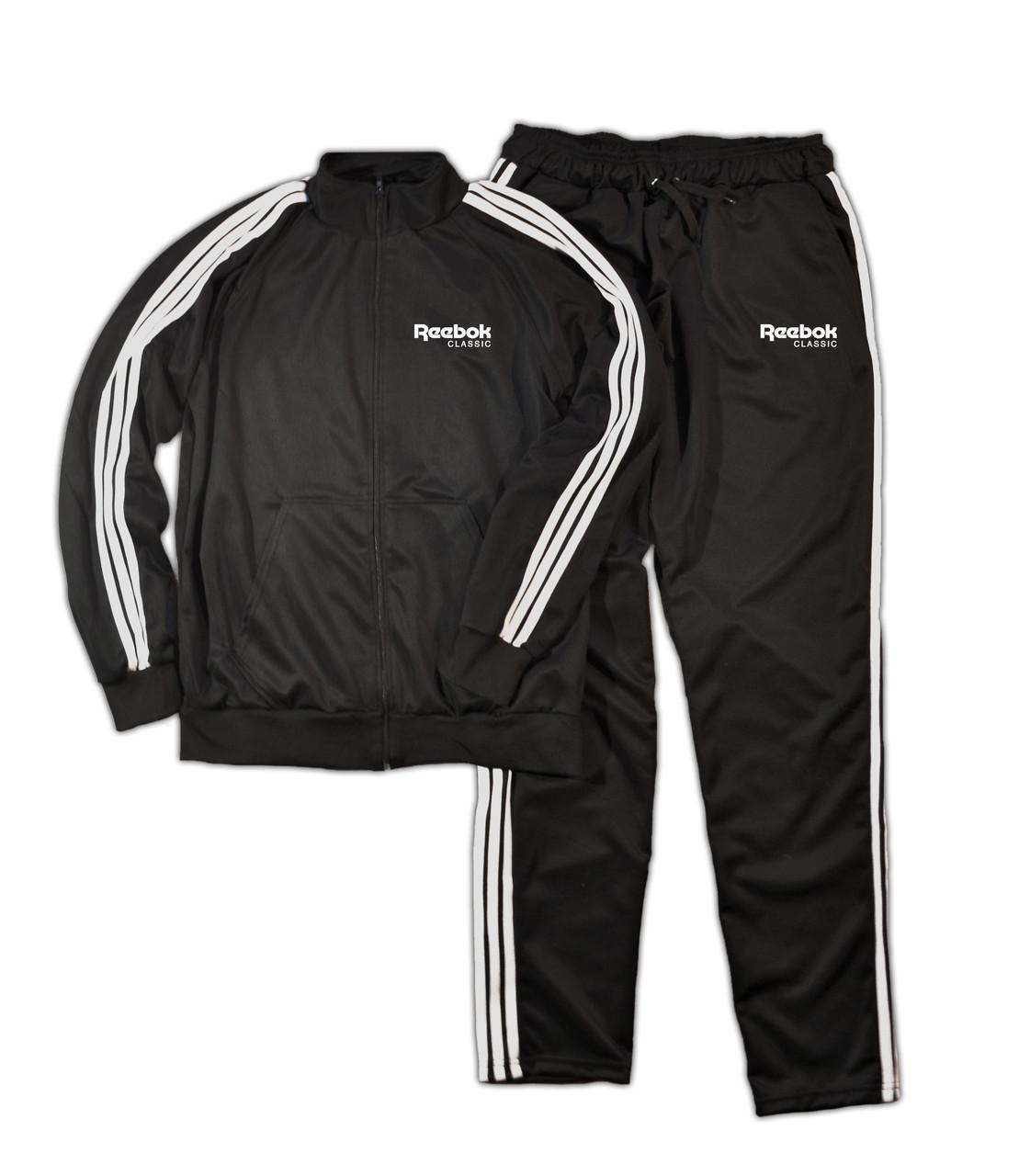 Тренировочный мужской спортивный костюм Reebok с лампасами (Рибок)