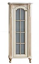 Пенал Атол Бісмарк 55 дорато (патина золото), стільниця мармур, 526х416х1410 мм