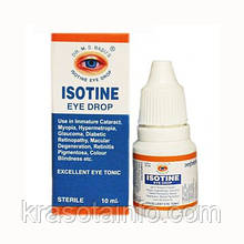 Оригинал! Айсотин капли для глаз Isotine  Jagat Pharma Индия,10 мл