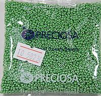 58230 Бисер глазированный светло-зелёный