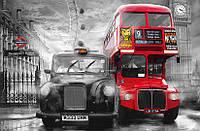 Фотообои на стену: Такси и автобус, 175х115 см