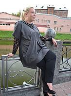 "Жилет трикотажный ""Нонна"" р. 48-66 серый"