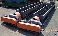 Конвейер шнековый, транспортер шнековый в жолобе, винтовой транспортер разборной