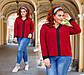 """Жіноча стильна блуза до великих розмірів 41324 """"Софт Кант Контраст"""" в кольорах, фото 4"""