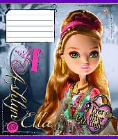Зошит учнівська 12 аркушів, лінія EVER AFTER HIGH dolls, малюнки в асортименті