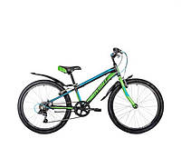 """Велосипед АVANTI  24"""" SPRINTER (V-BRAKE) 24"""" черно зеленый с синим"""