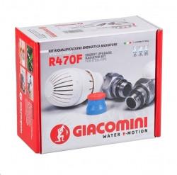 """Набор кранов термостатический угловой 1/2"""" Giacomini"""