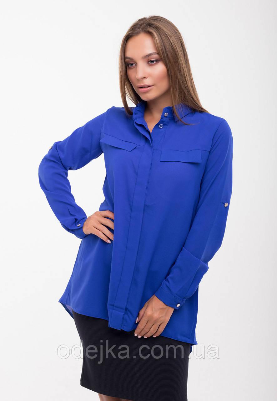 Блуза шифоновая 481, (3 цв), блуза фрак, длинная блуза, модная блуза, дропшиппинг