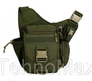 Тактическая сумка мужская через плечо, штурмовая, военная, армейская сумка рюкзак Oxford 600D зеленая +Подарок