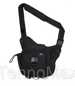 Сумка тактическая мужская через плечо, штурмовая, военная, армейская сумка рюкзак Oxford 600D Черная + Подарок