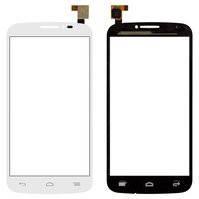 Сенсорный экран для мобильных телефонов Alcatel One Touch 7040 POP C7, One Touch 7041D POP C7, One Touch 7042, белый