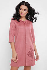 Платье туника Crystal PL-1648, (3 цв), замшевое платье, платье экозамш, дропшиппинг
