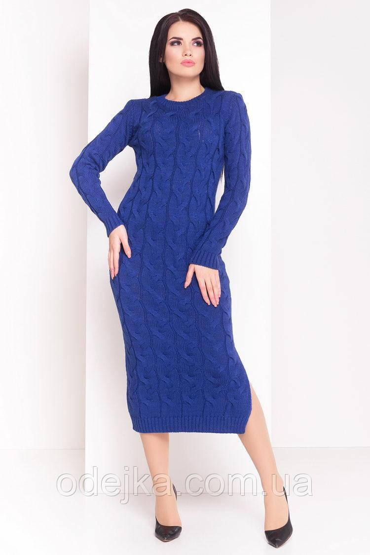 Платье вязанное Лало длинное (10 цв)