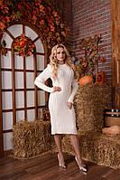 Платье вязаное Шанелька (7 цветов), вязанное платье, теплое платье, дропшиппинг поставщик