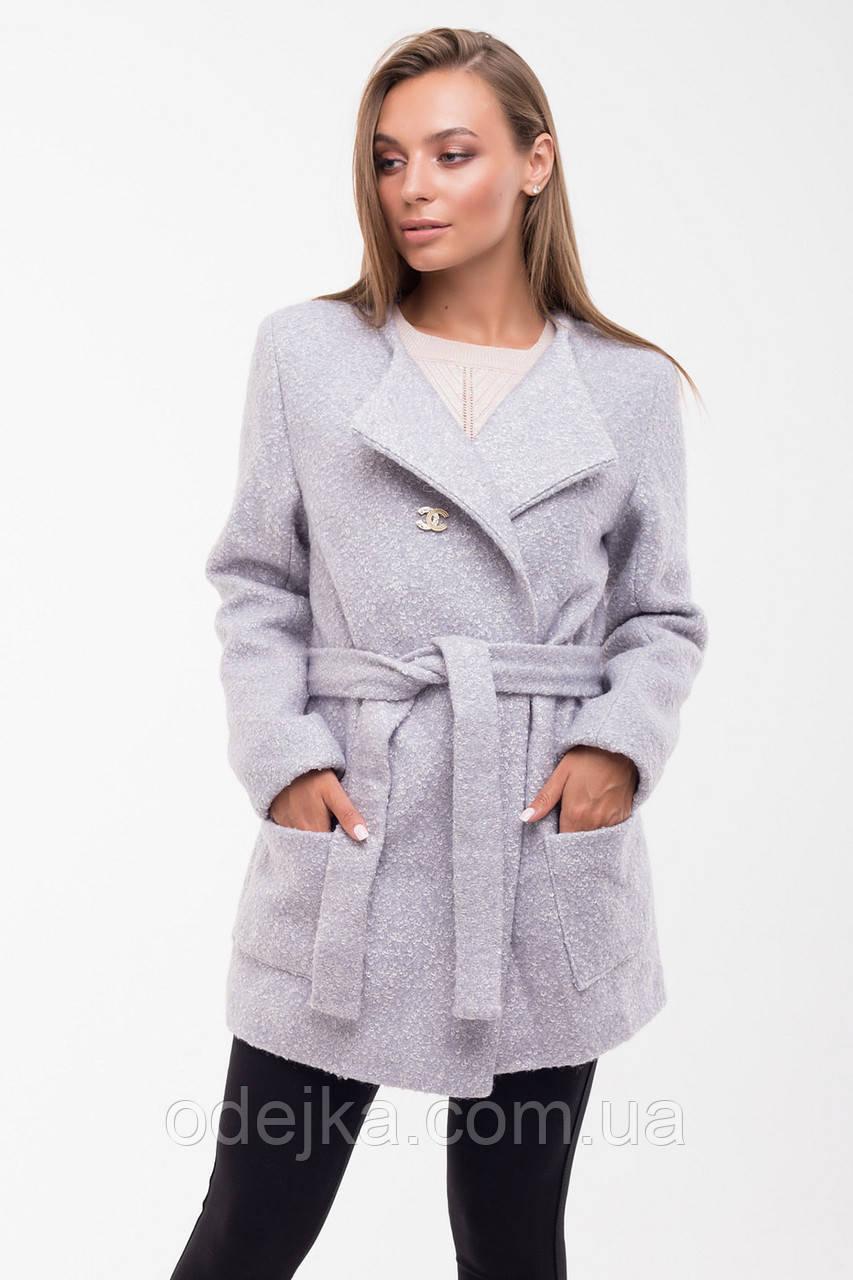 Пальто женское демисезонное Ольга букле, короткое пальто, пальто осеннее, пальто демісезонне жіноче
