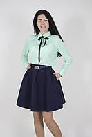 Юбка женская пышная темно-синяя (Спідниця жіноча темно-синя з кишенями), фото 1