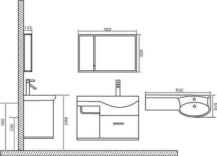 Комплект мебели для ванной CRW GSP04, фото 2
