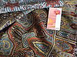 Царский 1159-51, павлопосадский шарф-палантин шерстяной с шелковой бахромой, фото 3