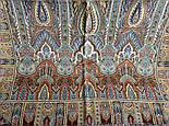Царский 1159-51, павлопосадский шарф-палантин шерстяной с шелковой бахромой, фото 5