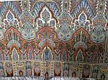 Царский 1159-51, павлопосадский шарф-палантин шерстяной с шелковой бахромой, фото 6