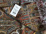 Царский 1159-51, павлопосадский шарф-палантин шерстяной с шелковой бахромой, фото 2