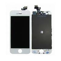 Дисплей Apple iPhone 5 з сенсорним екраном White (High Copy)