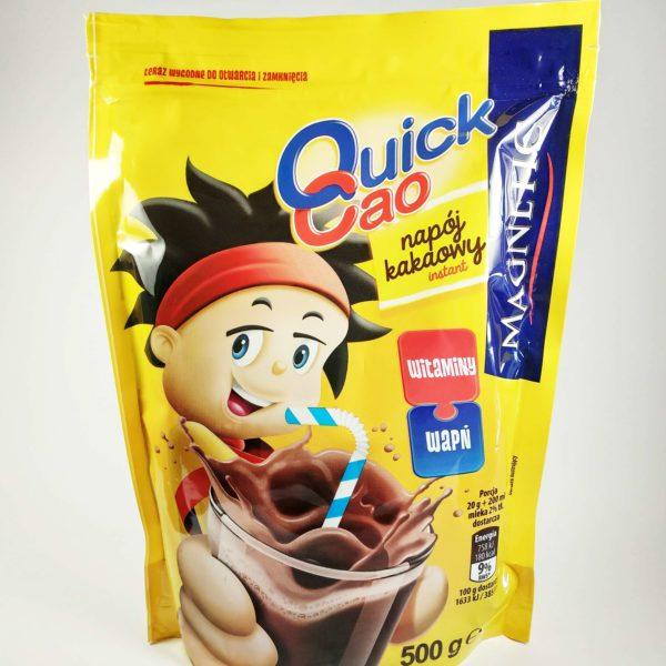 Какао детский растворимый Quick Cao, 500г,  быстрорастворимый шоколадный напиток