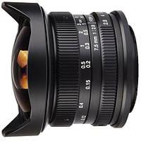 Объектив  7Artisans 7.5mm F2.8 Fisheye Canon(EOS-M Mount)
