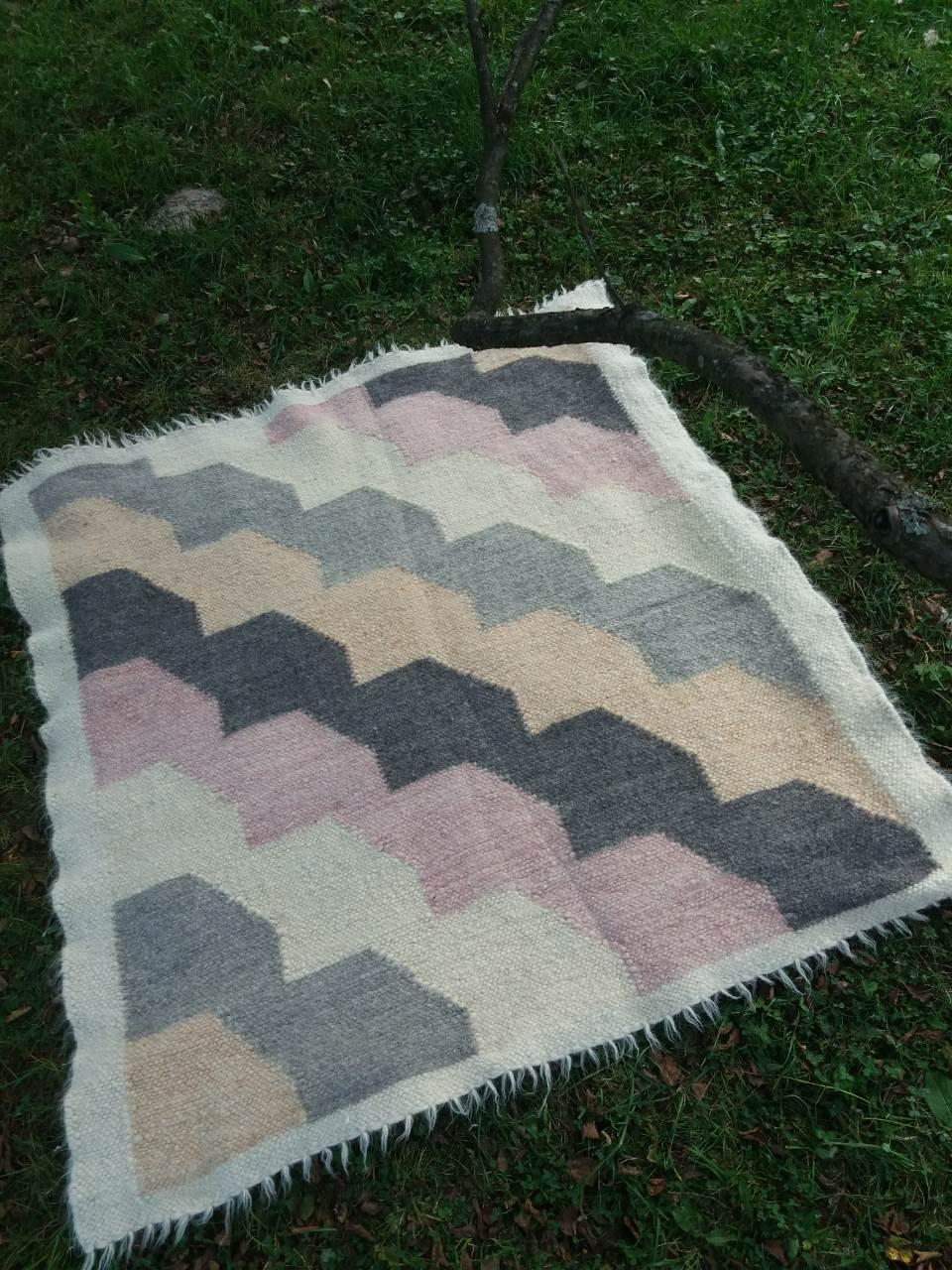 Ліжник, коврик з натуральної овечої шерсті 190*220 см