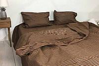 Комплект Шоколадный (коричневый) страйп (полосатый), бязь (Хлопок)