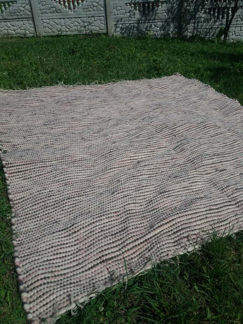 Ліжник-коврик з натуральної овечої шерсті, 2*2,2 м, фото 1
