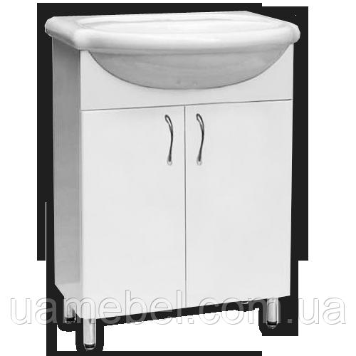 Тумба в ванную белая Т-01