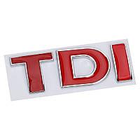 3D эмблема TDI - красные, фото 1