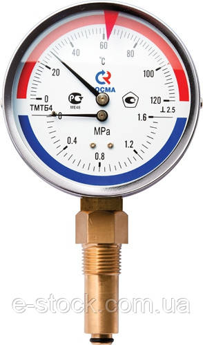 Манометр с термометром ДМТ 05080, Термоманометры ДМТ 05080, Термоманометр ДМТ05080