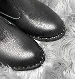 Стильные и привлекательные высокие ботфорты с широким манжетом 1052М-черный флотар, фото 3